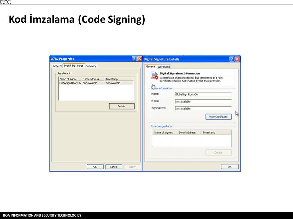 Kod İmzalama (Code Signing)