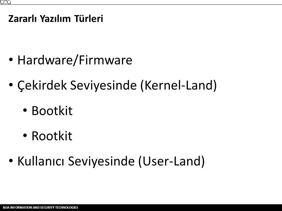 Çekirdek Seviyesinde (Kernel-Land) Bootkit Rootkit