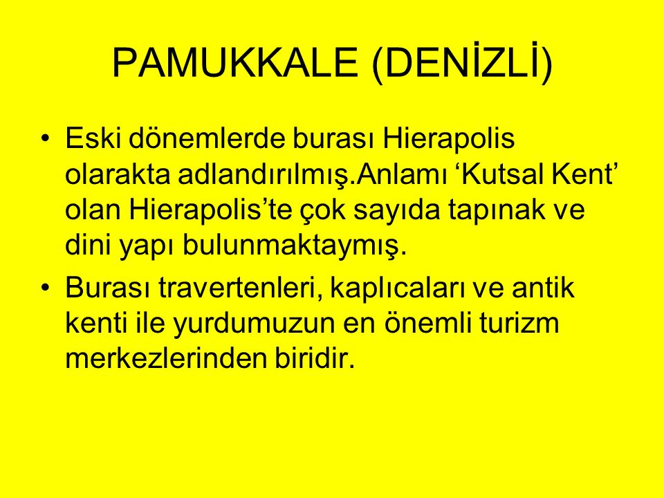 PAMUKKALE (DENİZLİ)
