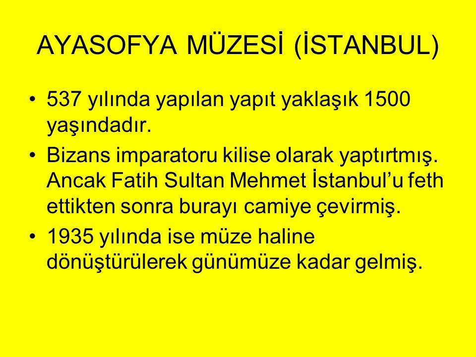 AYASOFYA MÜZESİ (İSTANBUL)