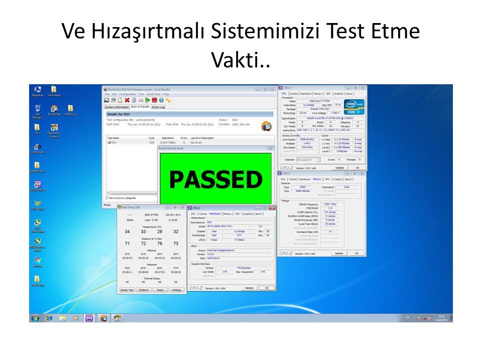 Ve Hızaşırtmalı Sistemimizi Test Etme Vakti..