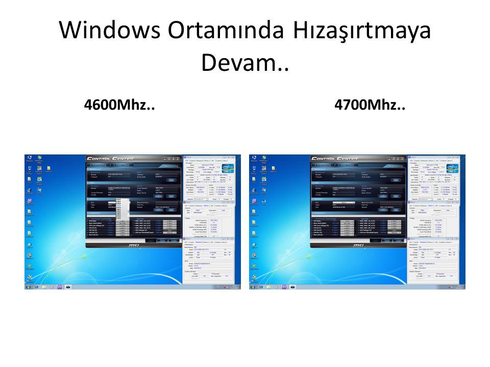 Windows Ortamında Hızaşırtmaya Devam..