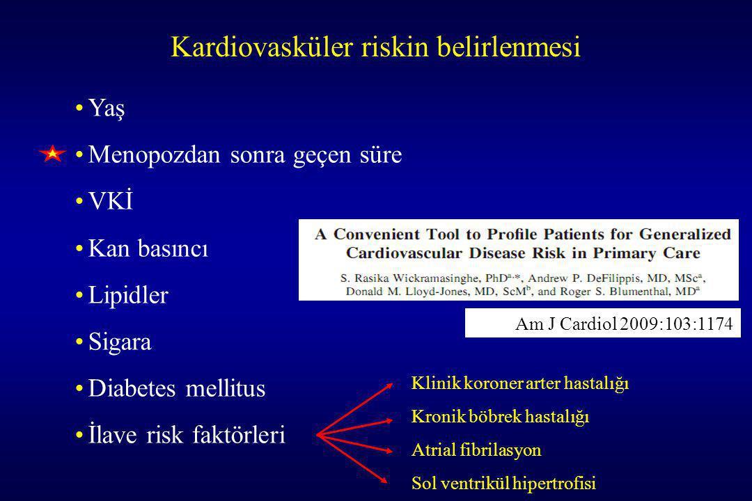 Kardiovasküler riskin belirlenmesi