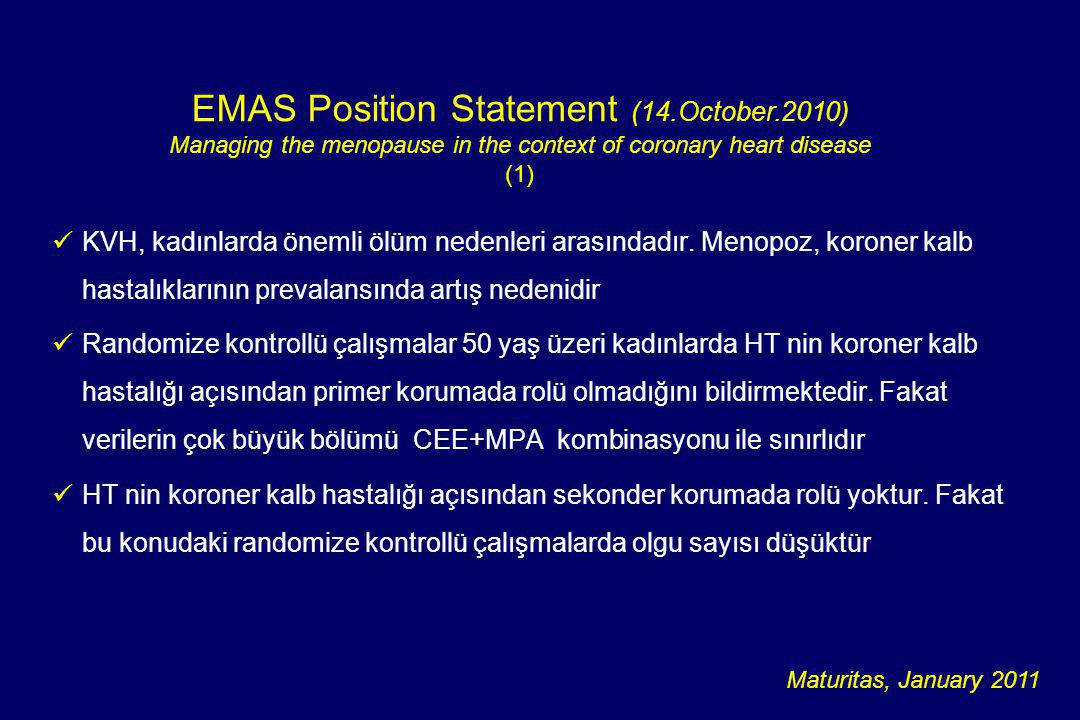 EMAS Position Statement (14.October.2010)