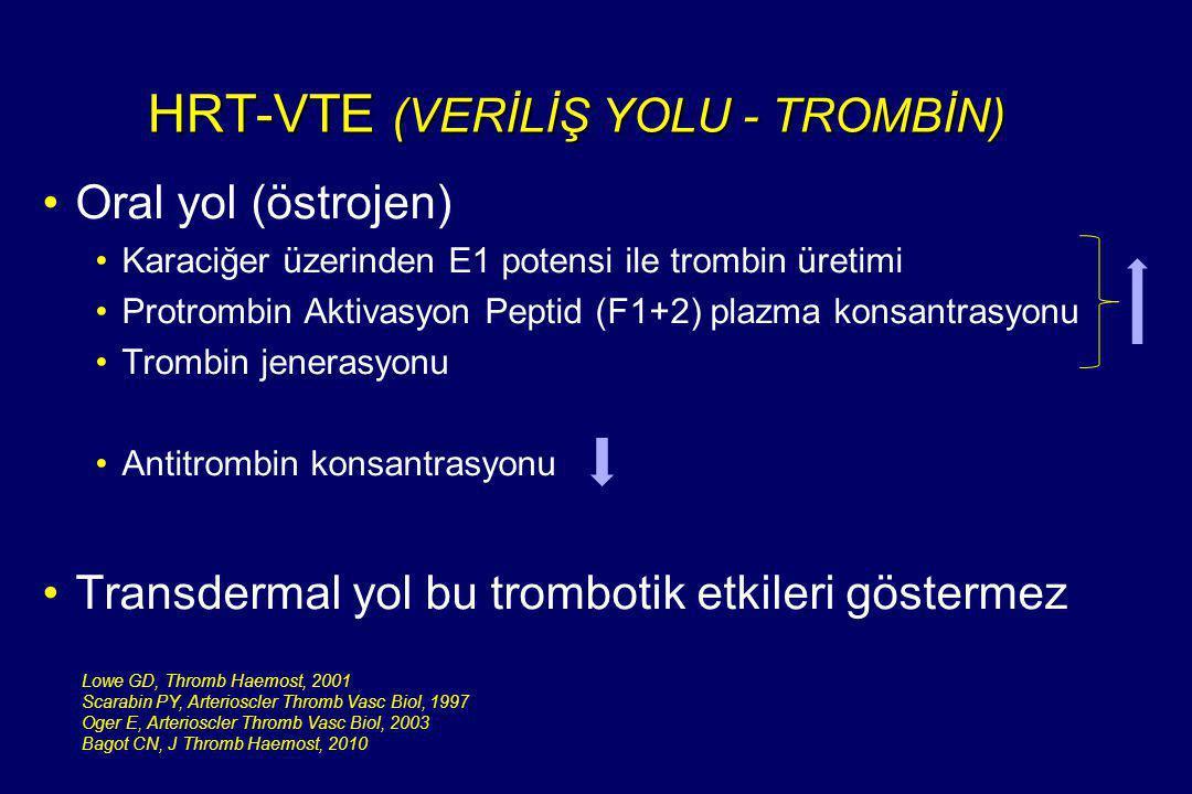 HRT-VTE (VERİLİŞ YOLU - TROMBİN)