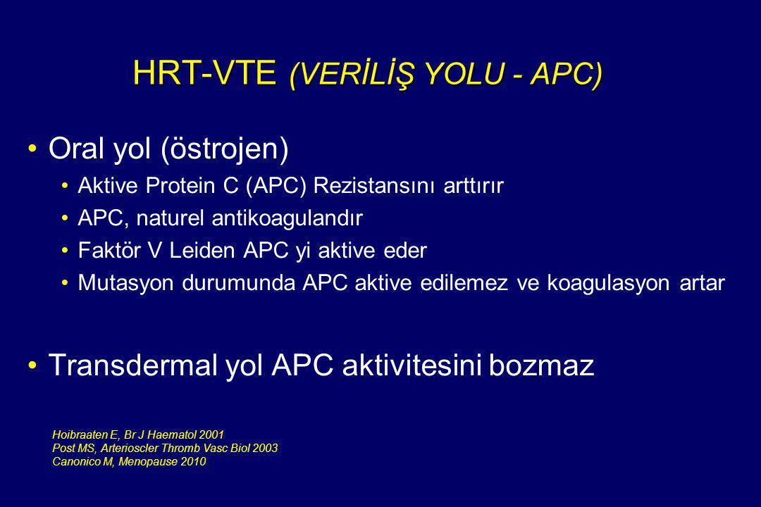 HRT-VTE (VERİLİŞ YOLU - APC)
