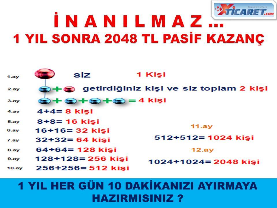 İ N A N I L M A Z … 1 YIL SONRA 2048 TL PASİF KAZANÇ