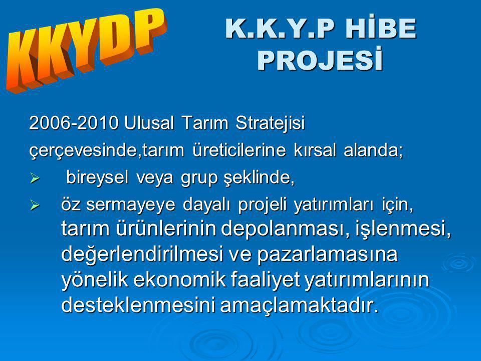 K.K.Y.P HİBE PROJESİ KKYDP 2006-2010 Ulusal Tarım Stratejisi