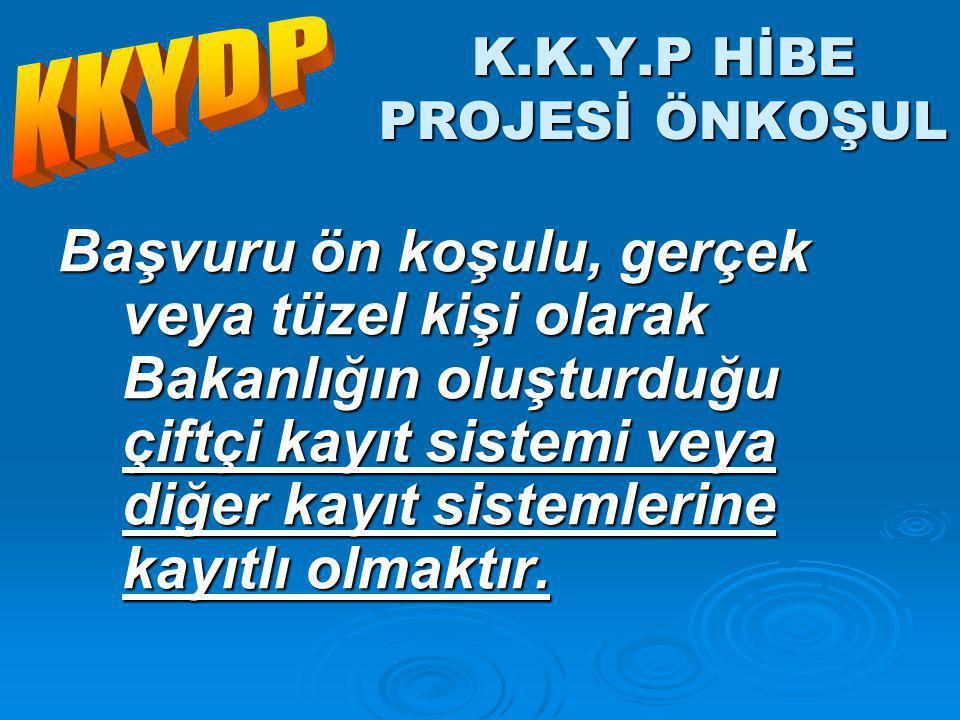 K.K.Y.P HİBE PROJESİ ÖNKOŞUL