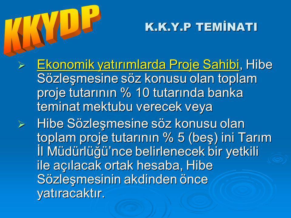 KKYDP K.K.Y.P TEMİNATI.