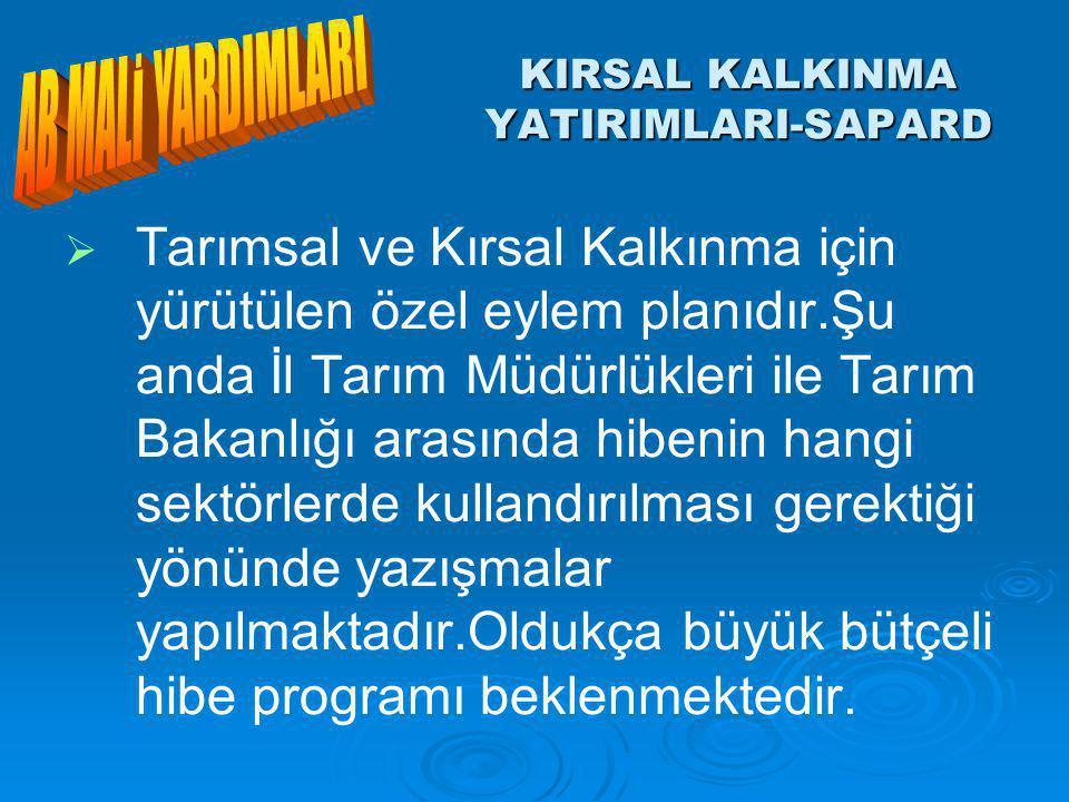 KIRSAL KALKINMA YATIRIMLARI-SAPARD