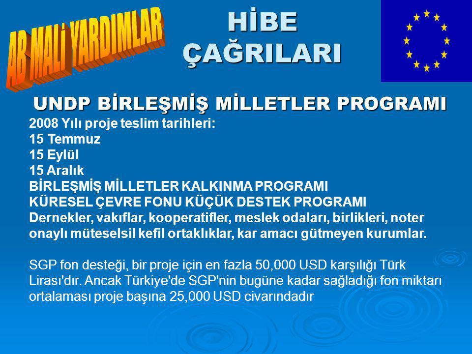 UNDP BİRLEŞMİŞ MİLLETLER PROGRAMI