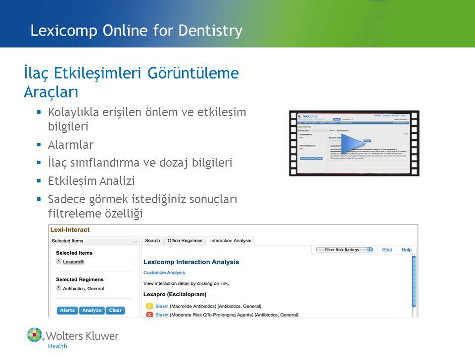 Lexicomp Online for Dentistry