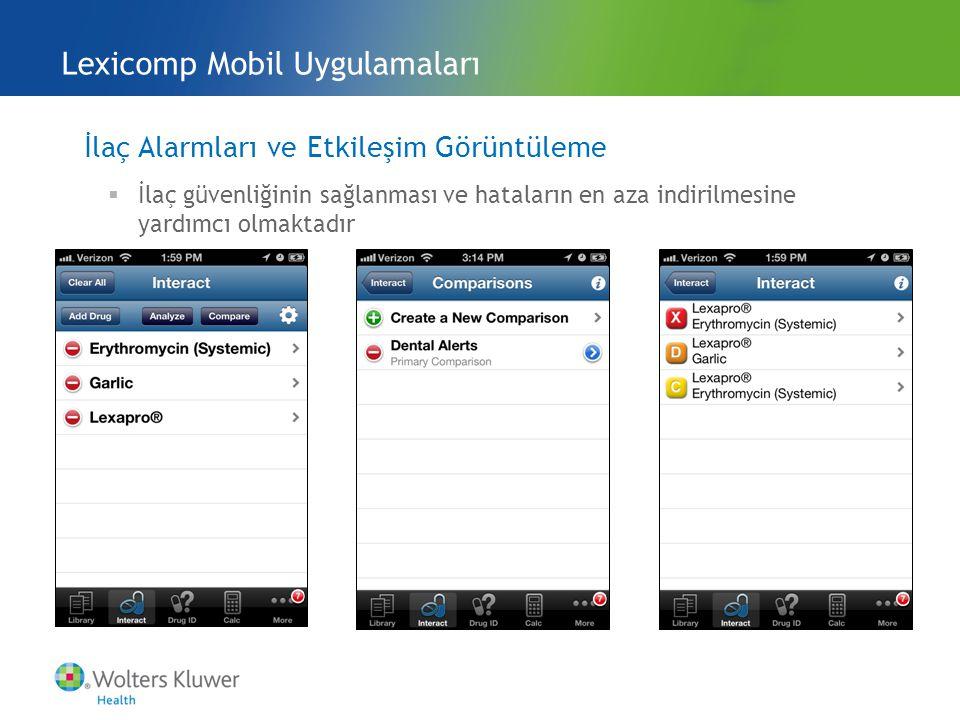 Lexicomp Mobil Uygulamaları