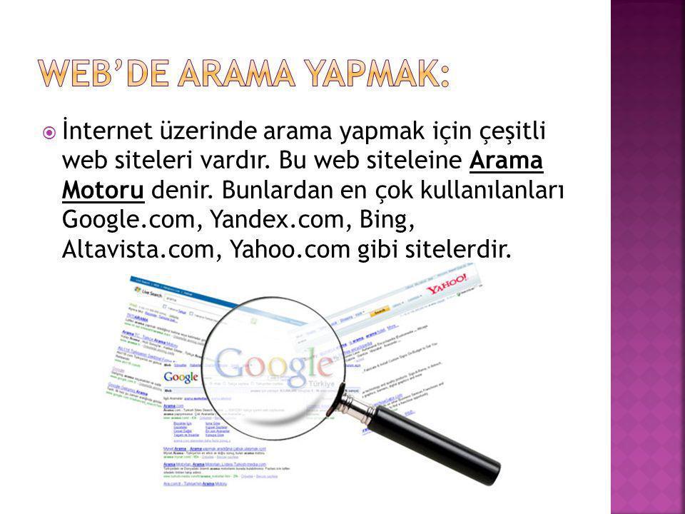 Web'de Arama Yapmak: