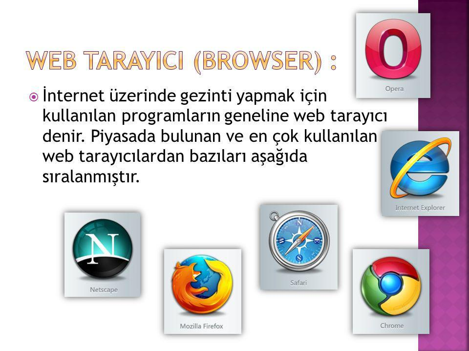 Web TarayIcI (Browser) :