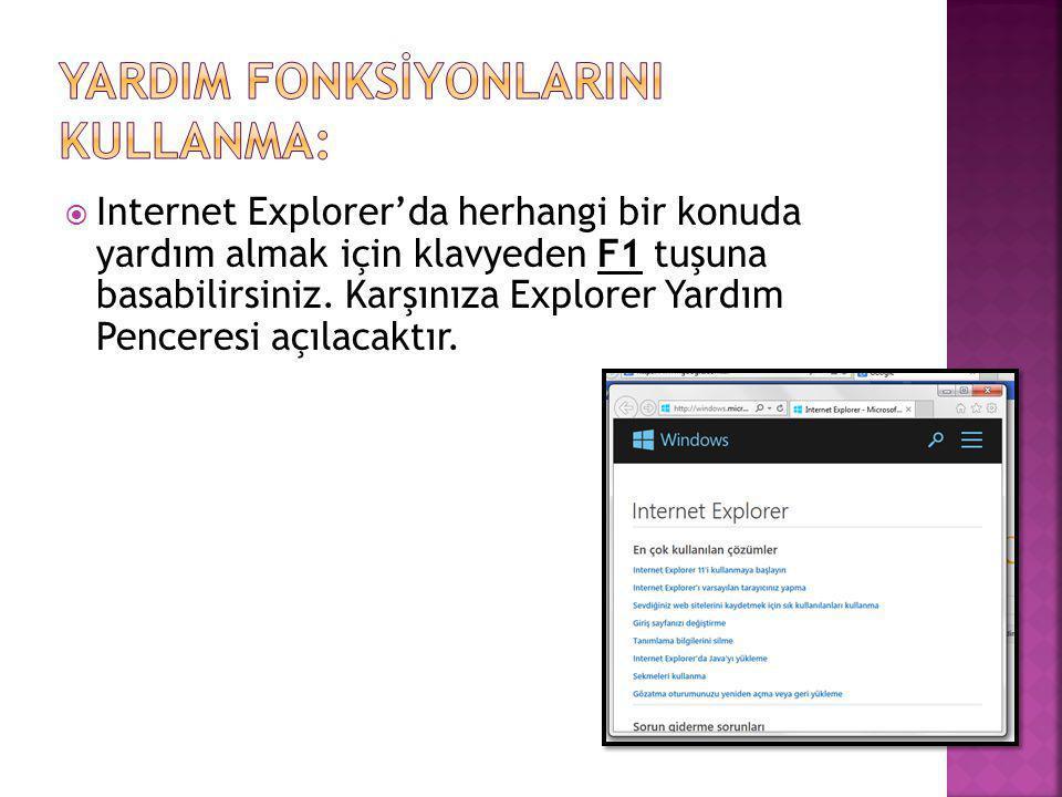 YardIm FonksİyonlarInI Kullanma: