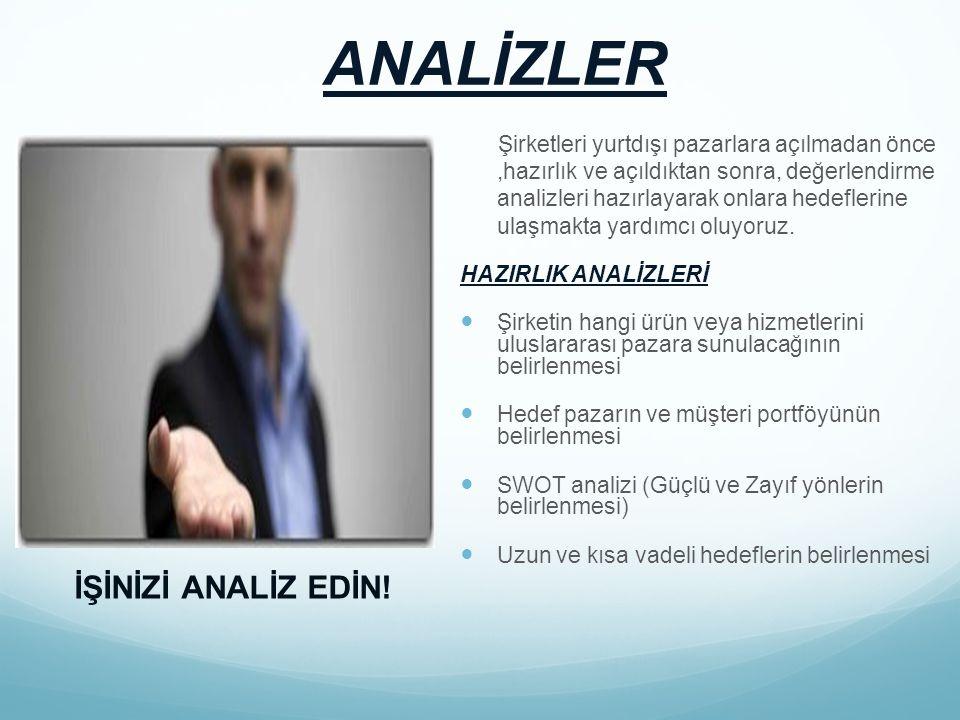 ANALİZLER İŞİNİZİ ANALİZ EDİN!
