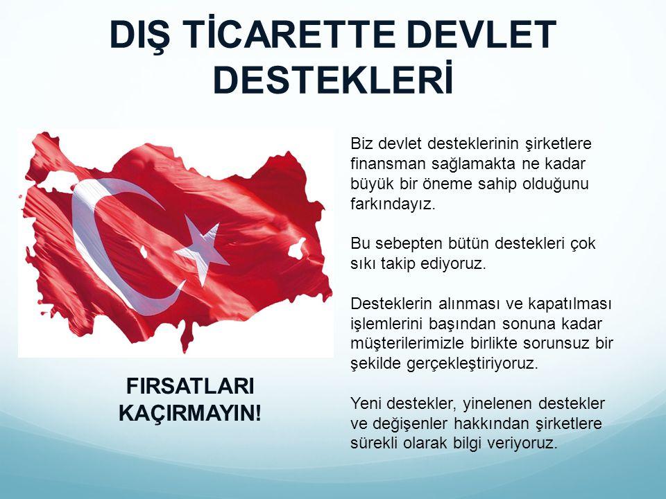 DIŞ TİCARETTE DEVLET DESTEKLERİ