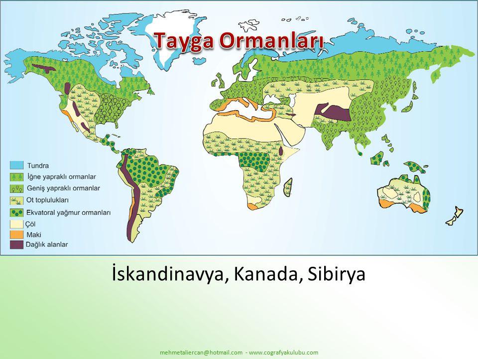 İskandinavya, Kanada, Sibirya