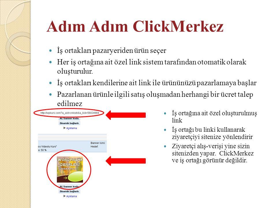 Adım Adım ClickMerkez İş ortakları pazaryeriden ürün seçer