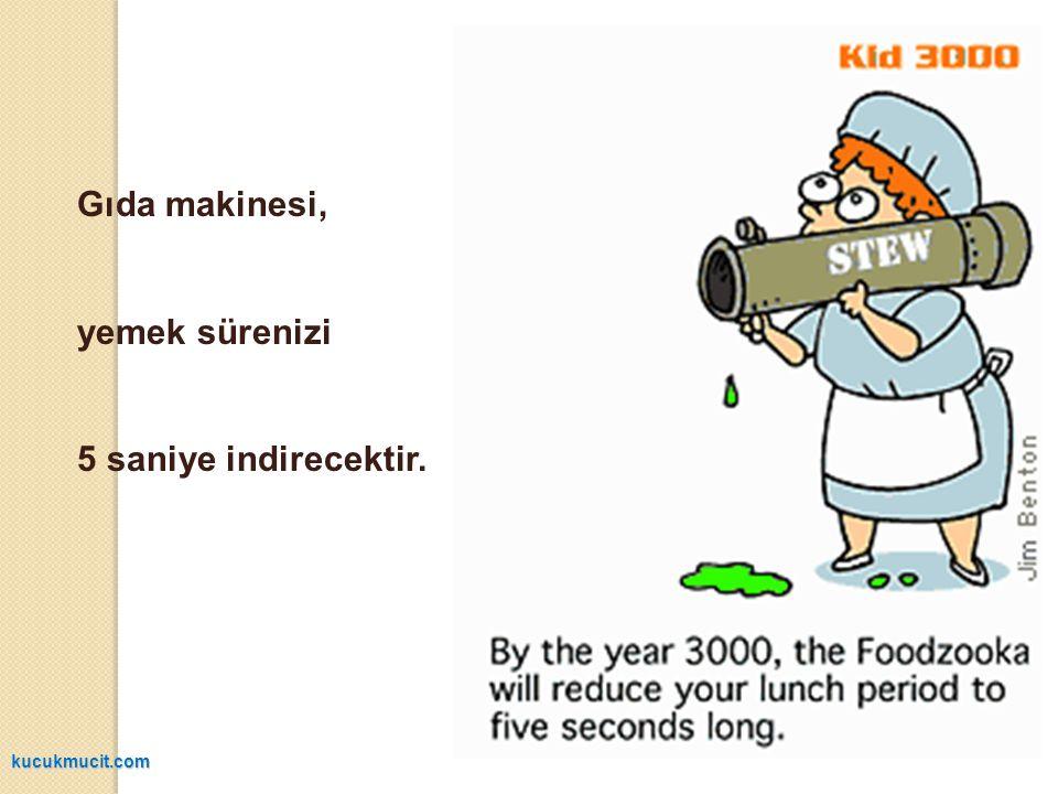 Gıda makinesi, yemek sürenizi 5 saniye indirecektir. kucukmucit.com