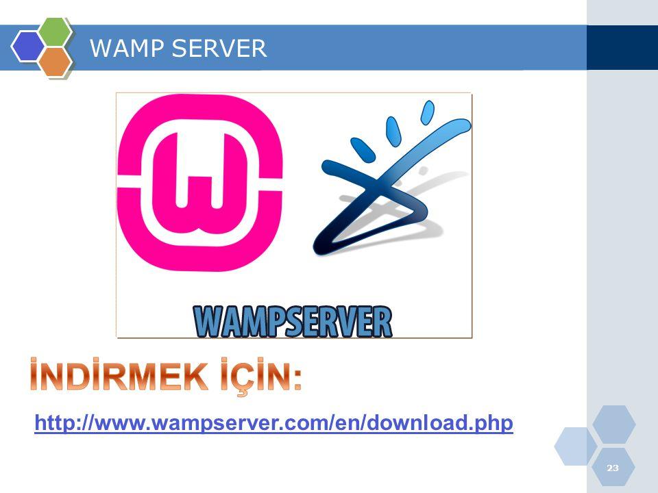 WAMP SERVER İNDİRMEK İÇİN: http://www.wampserver.com/en/download.php