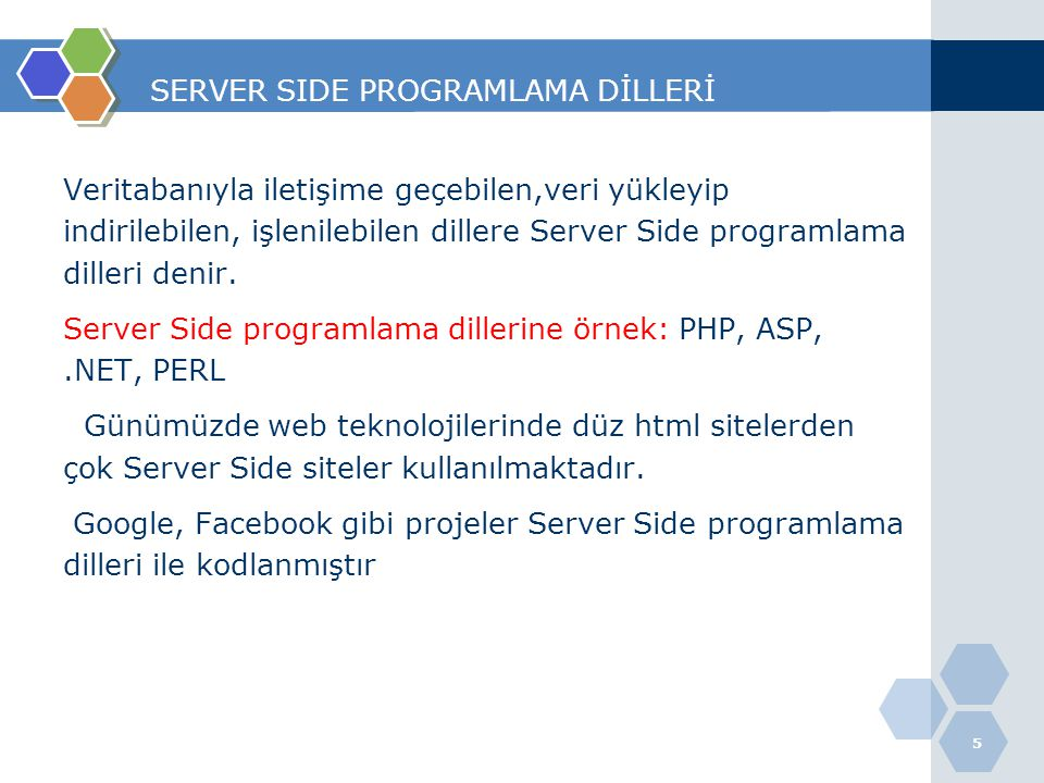 SERVER SIDE PROGRAMLAMA DİLLERİ
