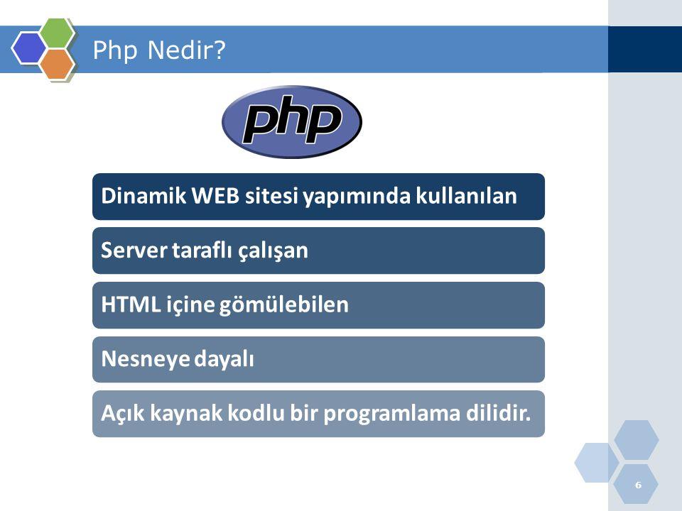 Dinamik WEB sitesi yapımında kullanılan