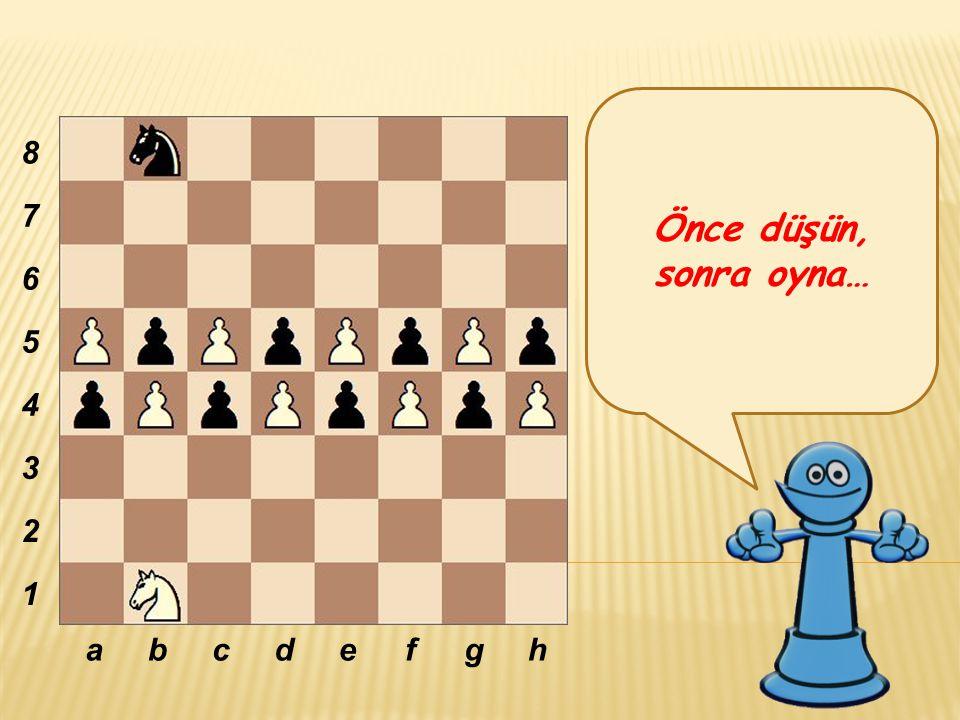 Önce düşün, sonra oyna… 8 7 6 5 4 3 2 1 a b c d e f g h