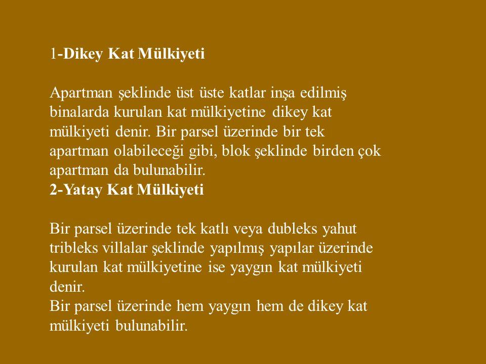 1-Dikey Kat Mülkiyeti