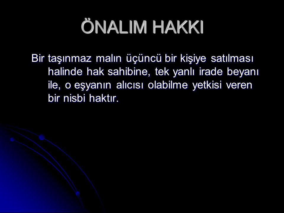 ÖNALIM HAKKI