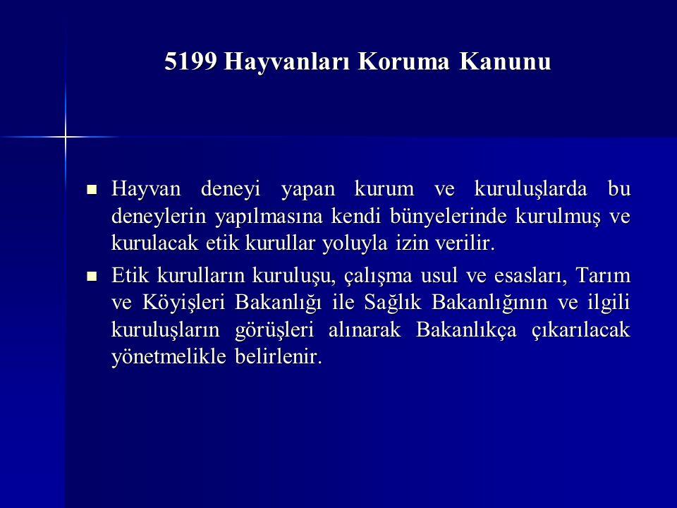 5199 Hayvanları Koruma Kanunu