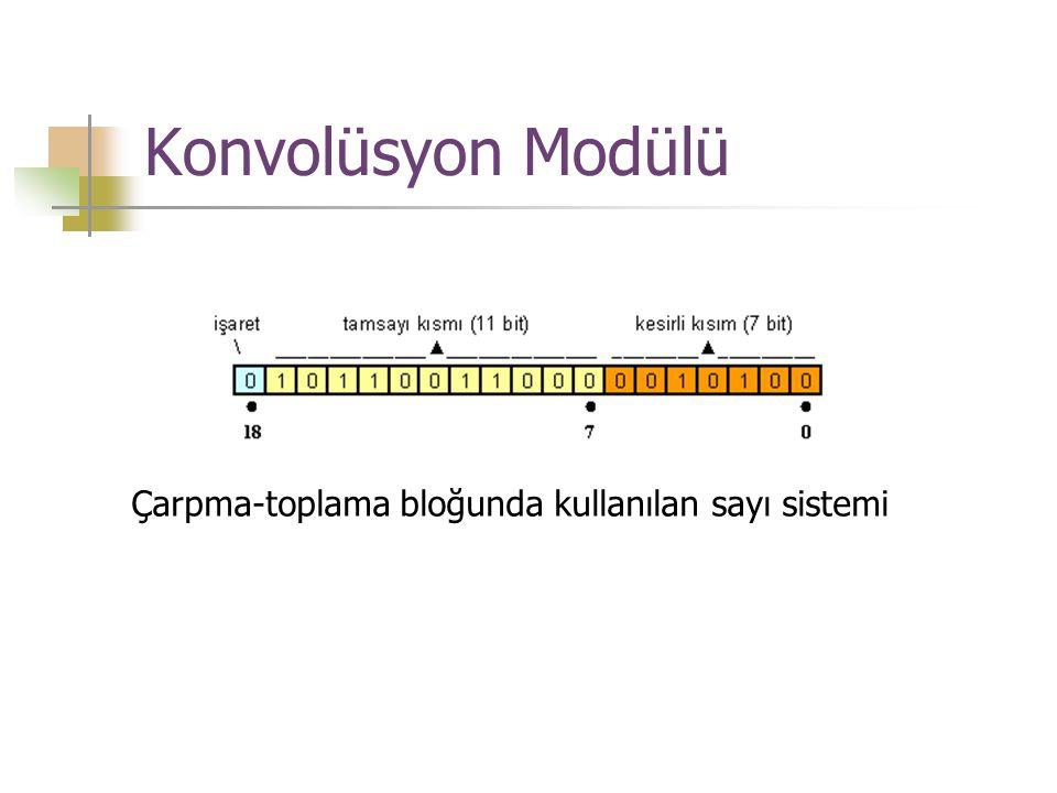Konvolüsyon Modülü Çarpma-toplama bloğunda kullanılan sayı sistemi