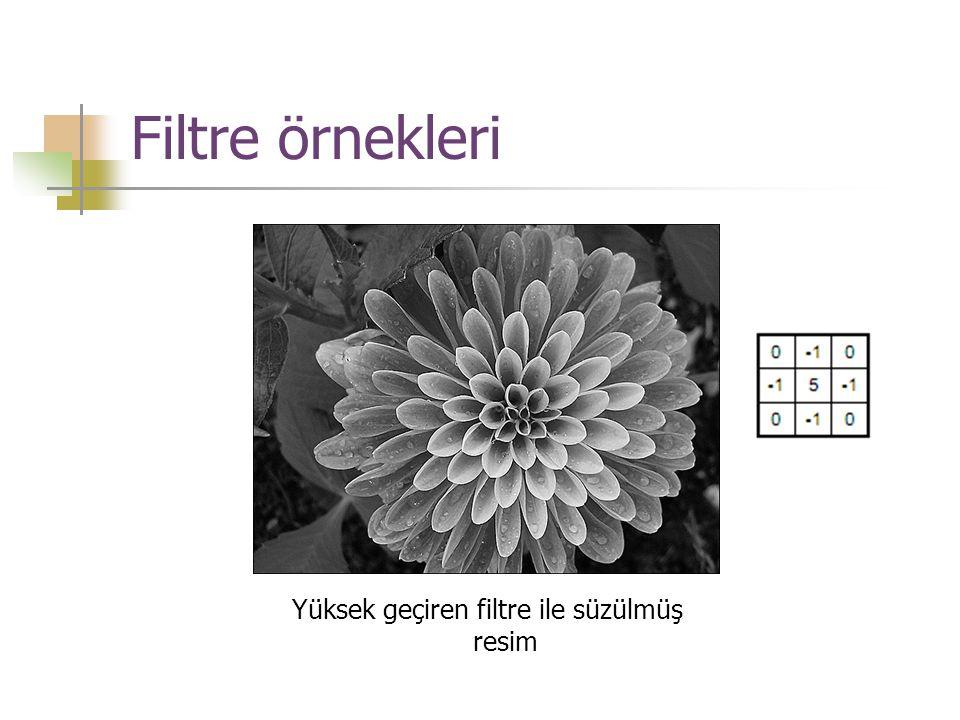 Yüksek geçiren filtre ile süzülmüş resim