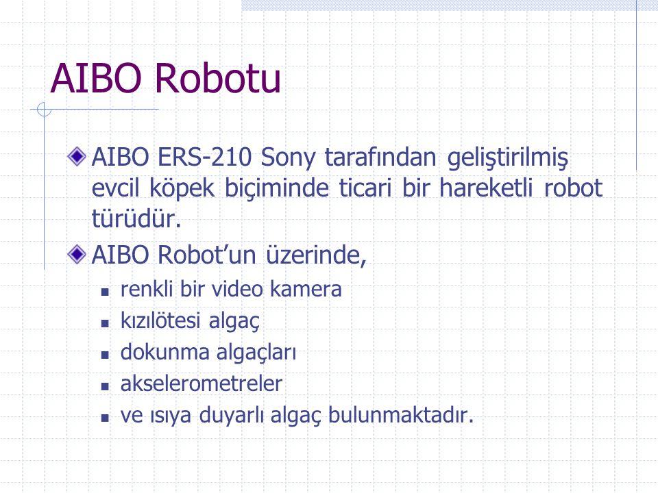 AIBO Robotu AIBO ERS-210 Sony tarafından geliştirilmiş evcil köpek biçiminde ticari bir hareketli robot türüdür.
