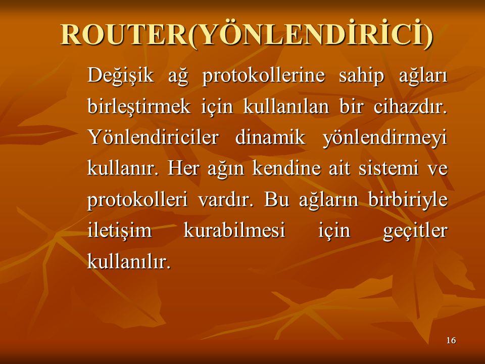 ROUTER(YÖNLENDİRİCİ)
