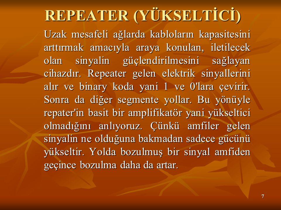 REPEATER (YÜKSELTİCİ)