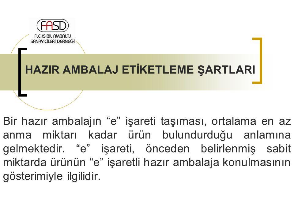 HAZIR AMBALAJ ETİKETLEME ŞARTLARI
