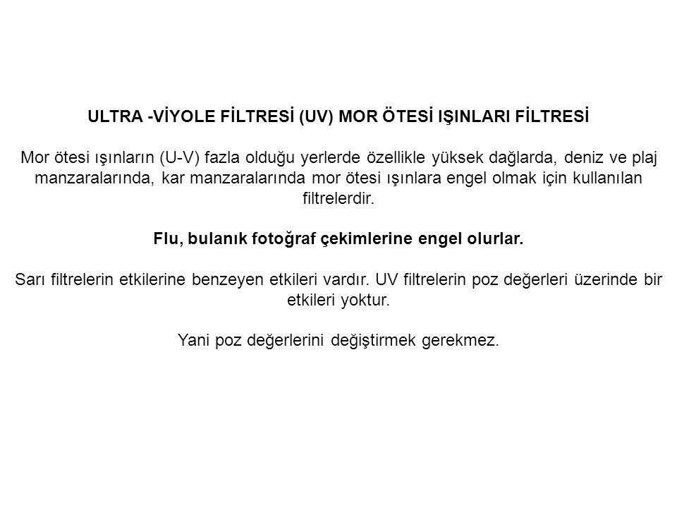 ULTRA -VİYOLE FİLTRESİ (UV) MOR ÖTESİ IŞINLARI FİLTRESİ