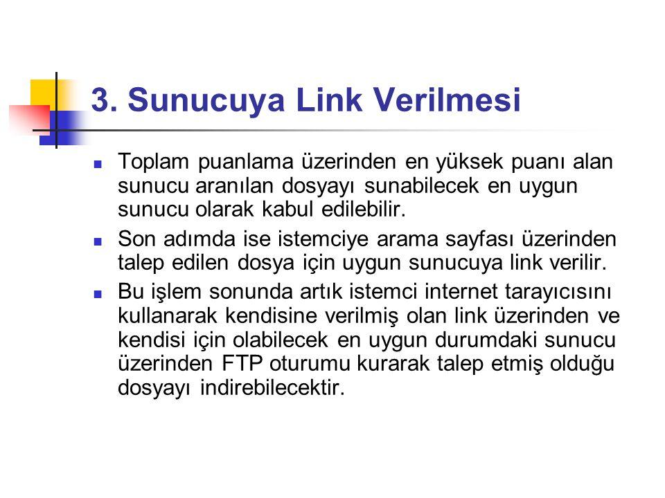3. Sunucuya Link Verilmesi