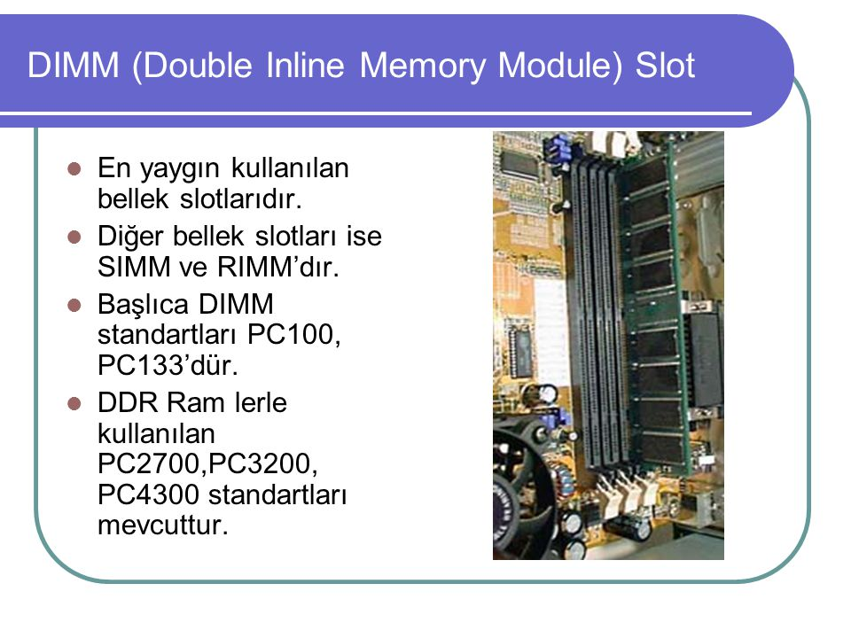 DIMM (Double Inline Memory Module) Slot