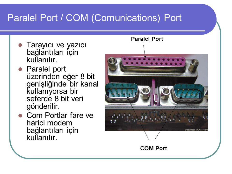 Paralel Port / COM (Comunications) Port