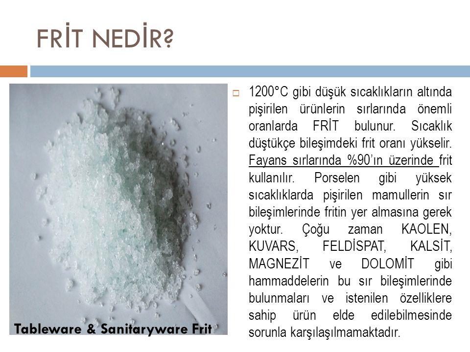 FRİT NEDİR Tableware & Sanitaryware Frit