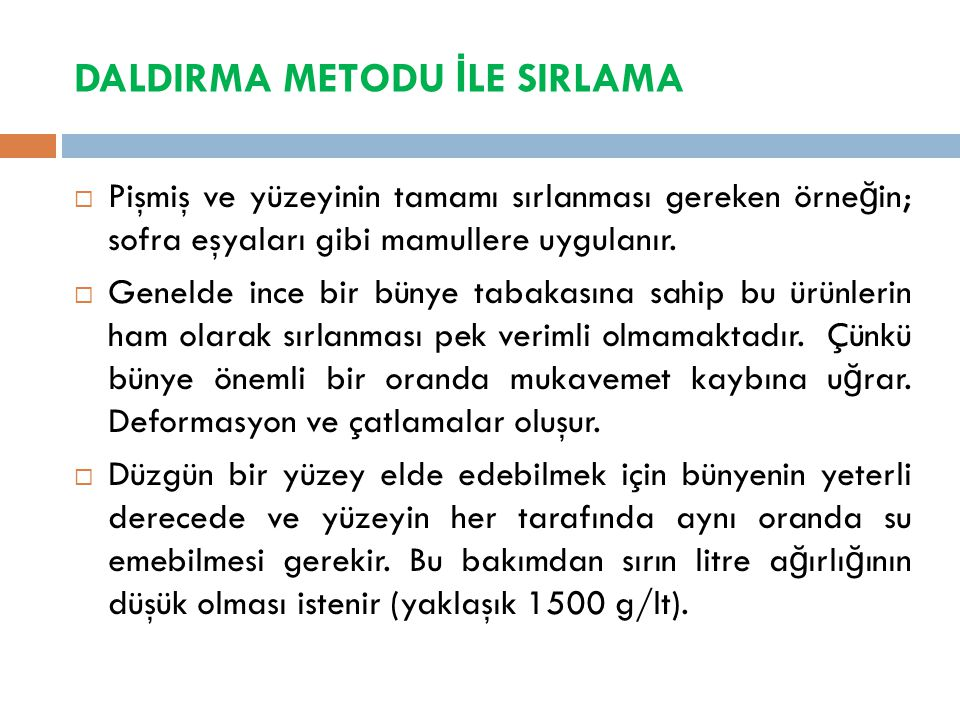 DALDIRMA METODU İLE SIRLAMA