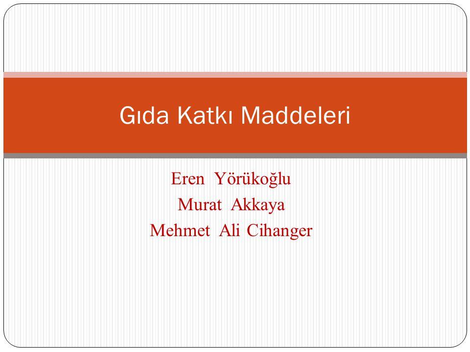 Eren Yörükoğlu Murat Akkaya Mehmet Ali Cihanger