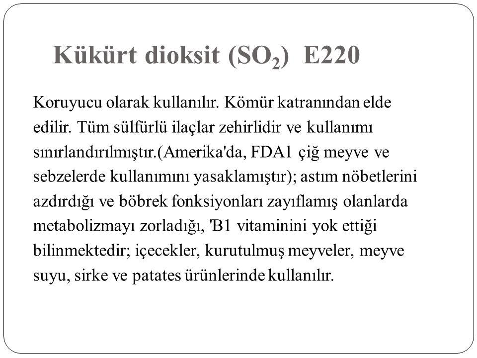 Kükürt dioksit (SO2) E220