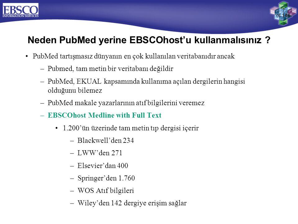 Neden PubMed yerine EBSCOhost'u kullanmalısınız