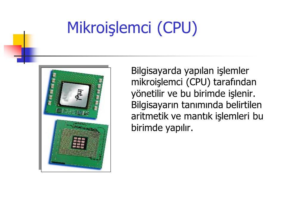 Mikroişlemci (CPU)