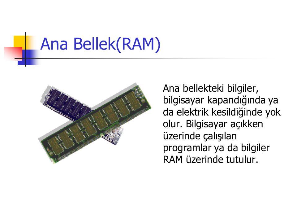 Ana Bellek(RAM)
